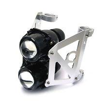 Motorbike Dual Stacked Streetfighter Projector Headlight Set bracket 42/43mm
