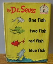 """1960 Vintage """"One Fish Two Fish Red Fish Blue """" by DR. SEUSS 1st edition"""