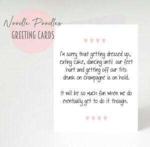 Should Be Wedding Day   Postponed Cancelled Wedding Card   Sorry Delayed Wedding