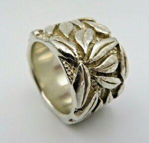 Schwerer breiter 925 Silber Ring 22 Gramm Gr.56/18 (C)