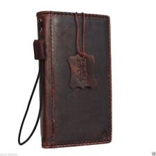 genuine natural leather Case for Samsung Galaxy S6 book wallet luxury hard cover