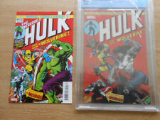 Hulk #1 variant ~ Hulk #181 Cover Homage CGC / PLUS HULK #181 Reprint Issue NM+