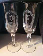 New ListingPrecious Moments Bride & Groom Bells Champagne Toasting Glasses