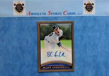 2012 Topps Pro Debut BLAKE HASSEBROCK Rookie Autograph | Gold SP /50 | RC | Auto