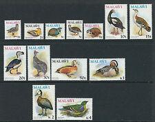 MALAWI 1975 BIRDS definitives long set complete (Scott 233-45) VF MNH