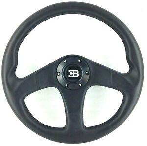 Genuine Nardi Personal Bugatti EB110 black leather steering wheel. 350mm NOS! 7B