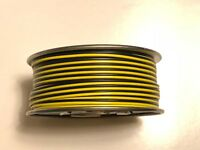 Gilbert American Flyer 2 wire black & yellow 200 FT (track,accessory & gen use)