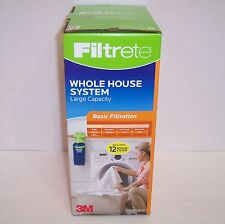 NEW! Filtrete Basic Whole House Water Filtration System, Large Capacity {3031}