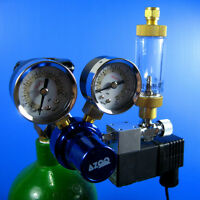 CO2 Pressure Regulator Magnetic Valve + Bubble Counter