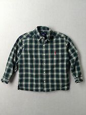 Boy Ralph Lauren Polo Green Plaid Dress Button Down L/S Shirt Size 4