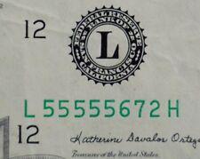 1985 $20 DISTRICT L 12 SAN FRANCISCO OLD STYLE TWENTY DOLLAR BILL US CURRENCY