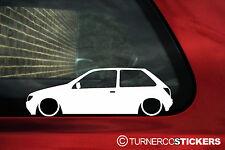Baja 2x MK3 Ford Fiesta XR2i/RS 1800 baja contorno de Coche Pegatinas