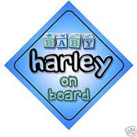 Baby Harley On Board Car Sign New Boy/Birthday Gift