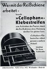 Kalle & Co. AG Wiesbaden CELLOPHAN-KLEBESTREIFEN - Kunstwerbung von 1938