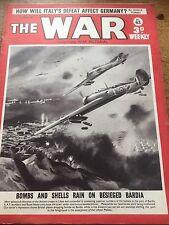 THE WAR 1941 Magazine WWll WW2 RAF & ROYAL NAVY Bomb & Shell Bardia