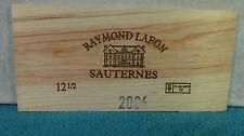 2006 RAYMOND LAFON SAUTERNES WOOD WINE PANEL END
