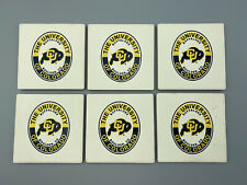 Set of 6 Vintage Boulder -  University of Colorado Drink Ceramic Drink Coasters