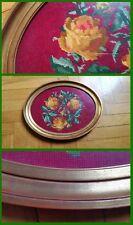 Quadro ricamato a mano mezzo punto gobelin con fiori  anni 60 CONDIZIONI OTTIME
