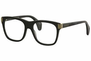 Gucci Men's Eyeglasses Web GG0526O GG/0526/O 001 Black Optical Frame 54mm