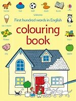 Usborne First Hundred Words in English Colouring Book for Children activity book