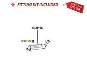 Centre Silencer For Land Rover Range Rover GLR165 RV.62.06 + FIT KIT LR165