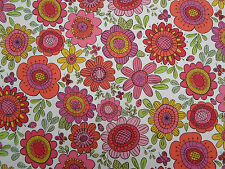 Scion/Harlequin Curtain Fabric 'Bloomin' Lovely' 3.6 METRES Sherbert/Rasp/Chalk