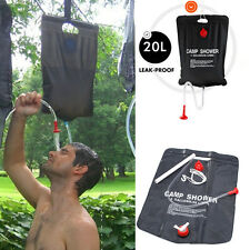 20 L/5Gallon Water Bag Portable SOLAR Camping Shower Outdoor Hiking Camping PVC