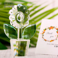 Clear Crystal Sunflowers Figurine Paperweight Collectable Ornament Home Decor