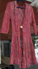 Silk Boho Duster Sweater- Spa Style Knit Wrap Cardigan- Resort Boutique Large L
