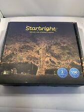 NIB Starbright Solar LED String Lights ~ 2 Pk ~ Outdoor ~ Warm White ~ 8 Modes