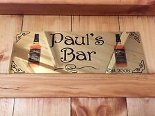 GOLD PERSONALISED PUB SIGN ANY NAME AND DATE MAKES A GREAT GIFT XMAS MAN CAVE