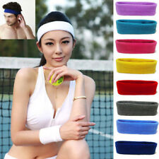 Unisex Ladies Men Sports Yoga Sweatband Gym Stretch Headband Hair Band Towelling