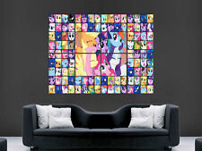 MY LITTLE PONY COLLAGE KIDS CHILDREN  ART WALL LARGE IMAGE GIANT POSTER