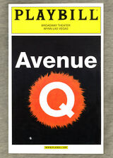 Playbill AVENUE Q in Las Vegas 2005 John Tartaglia, Rick Lyon TONY AWARD MUSICAL
