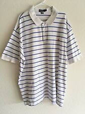 💥 Mens Polo-Ralph Lauren S/S Striped Golf Shirt Pony Logo Cotton 4XL BIG 4XB💥