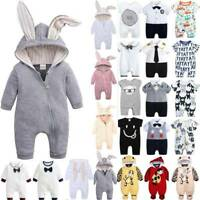 Newborn Baby Toddler Boy Girls Kid Romper Jumpsuit Soft Clothes Bodysuit Outfits