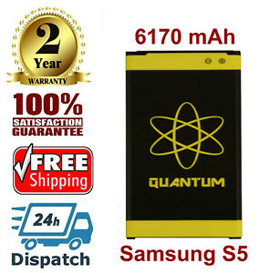Quantum 6170mAh Extended Slim Battery For Samsung Galaxy S5 i9600 SM-G900V