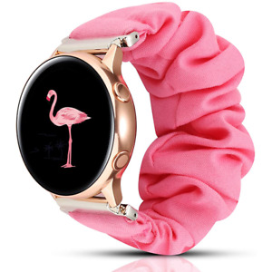 Scrunchie Pink watch band for Samsung, Huawei, 22mm, Amazfit