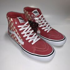 Vans Sk8-Hi Pro Desert Rose Checkerboard Skate Shoes Men's 10