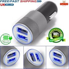 Car Charger 2 Port Dual Twin USB Cigarette Socket Lighter Adapter Samsung iPhone