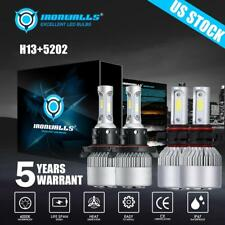 H13 Led Headlight +5202 Fog Light For GMC Sierra 1500 2007-2015 Yukon XL 2007-13