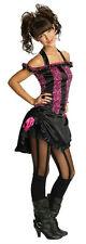 Rubies Costume Co Pink and Black Saloon Girl Tween Costume Size Teen Medium 2-6