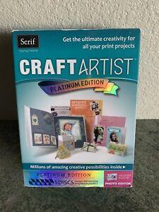 Serif Craft Artist Platinum Edition 5 Discs Includes Built-In Photo Editor T1