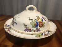 Vintage K.T & K Knowles Taylor & Knowles Ivory Floral Casserole Serving Dish