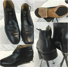 Cole Haan Grand OS Boots Sz 10 Men Black Lace Made In India Worn Once YGI G8