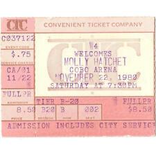 Molly Hatchet & Michael Schenker Group & Johnny Van Zant Concert Ticket Stub 80