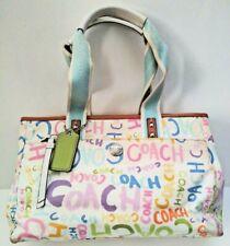 Coach F13566 Hamptons Scribble Graffiti  Satchel Bag