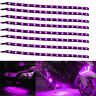 Lot8 Purple 15 LED 30CM Car Grill Flexible Waterproof Light Strip SMD 12V Sales