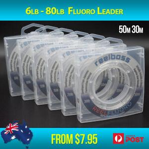 ReelBoss 100% Fluorocarbon Leader 4 6lb 10lb 12 15lb 20lb 30lb 50lb 40 60lb 80lb
