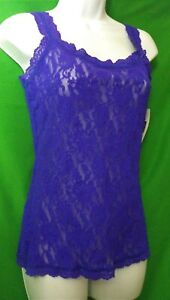 NEW HANKY PANKY 1390L EPUR CLASSIC SIGNATURE MADE IN USA LACE CAMISOLE M